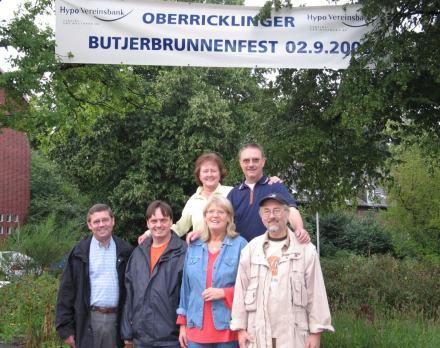 Vorstand Oberricklinger Butjerbrunnenverein und Organisationsteam