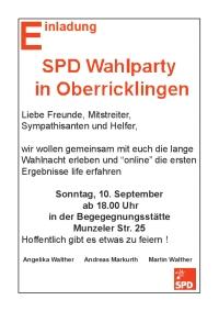 SPD Wahlparty in Oberricklingen
