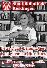 Petra Durst-Benning liest Das gl�serne Paradies