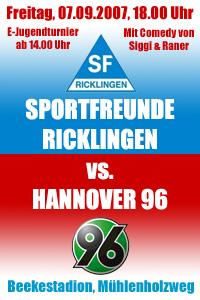 Sportfreunde Ricklingen - Hannover 96