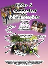 Kinder- und Sommerfest auf dem Sch�nemannplatz