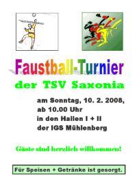 TSV Saxonia Faustballturnier