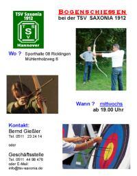 TSV Saxonia: Bogenschie�en
