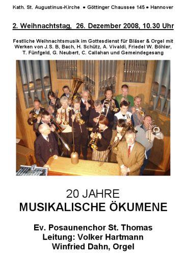 20 JAHRE MUSIKALISCHE ÖKUMENE