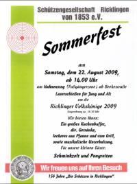 Sommerfest der Sch�tzengesellschaft Ricklingen