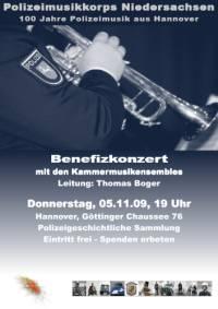 Benefizkonzert des Polizeimusikkorps Niedersachsen