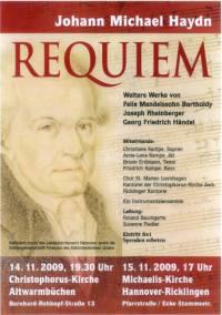 Requiem von Johann Michael Haydn