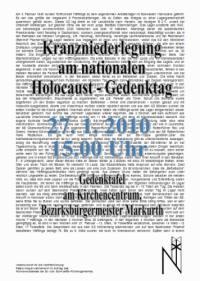 Nationaler Holocaust-Gedenktag