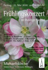 Fr�hlingskonzert der Ricklinger Kantorei