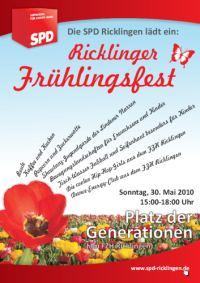 SPD Ricklingen: Fr�hlingsfest auf dem Platz der Generationen