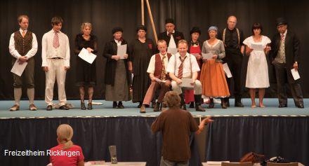 Was ihr wollt: Proben für die Ricklinger Sommerspiele 2010