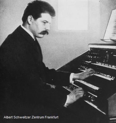 Albert Schweitzer an der Orgel St. Nicolai, Straßburg