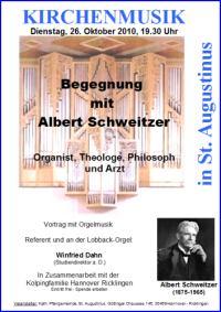 St. Augustinus: Begegnung mit Albert Schweitzer