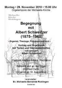 Begegnung mit Albert Schweitzer