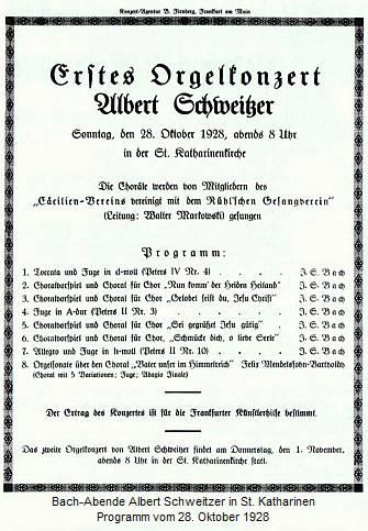 Albert Schweitzer Konzert 1928