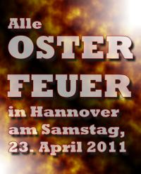 Alle Osterfeuer 2011 in Hannover
