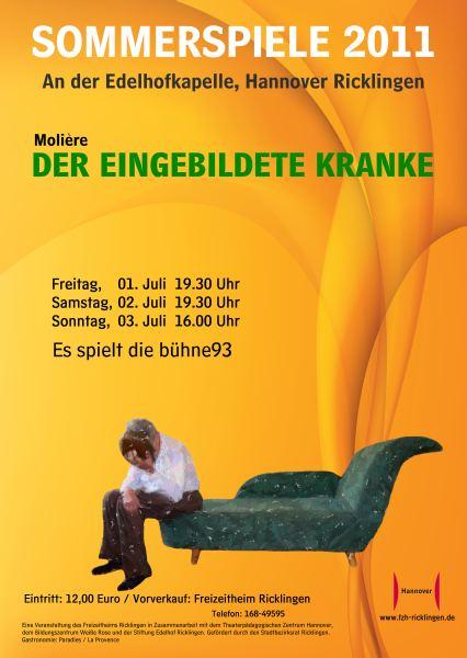 Ricklinger Sommerspiele 2011: Der eingebildete Kranke