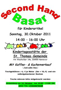 Second Hand Basar in der Kita St. Thomas