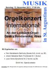 St. Augustinus: Orgelkonzert - International