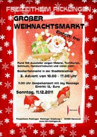 Weihnachtsmarkt im Freizeitheim Ricklingen