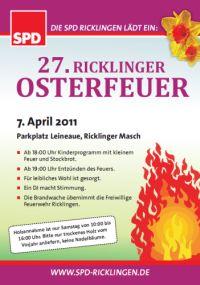 SPD Ricklingen: Einladung zum Osterfeuer