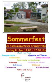 Sommerfest im Familienzentrum Gronostra�e
