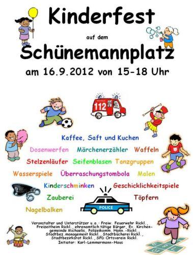 Kinderfest 2012 auf dem Schünemannplatz