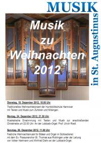 Musik zu Weihnachten 2012 in St. Augustinus