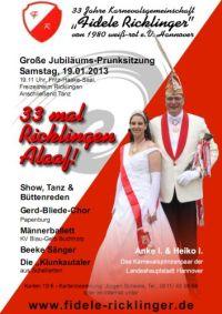 Fidele Ricklinger: Prunksitzung 2013