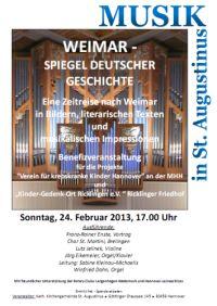 Musik in St. Augustinus: Weimar - Spiegel Deutscher Geschichte