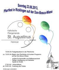 Pfarrfest in St. Augustinus 2013