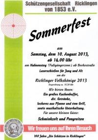 Schützengesellschaft Ricklingen: Sommerfest