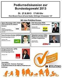 Kolpingsfamilie Hannover-Ricklingen: Wahlcheck 2013 - Familien im Fokus