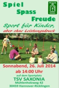 Mitmachaktion Spiel-Spass-Freude - Sport f�r Kinder