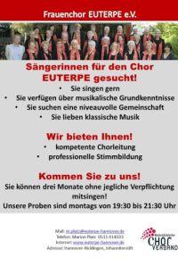 Der Frauenchor EUTERPE sucht S�ngerinnen