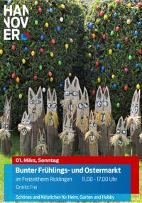 Gro�er, bunter Fr�hlings- und Ostermarkt