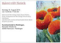 KunstWerkStatt in Ricklingen: Malerei trifft Floristik