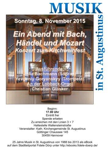 St. Augustinus: Konzert zum Kirchweihfest