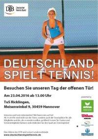 TuS Ricklingen Tennis: Tag der offenen T�r am 23.04.2016