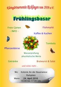 KGV Ricklingen: Fr�hlingsbasar am 24.04.2016