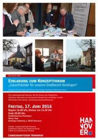 Mein Quartier 2030: Forum zum integrierten Entwicklungskonzept f�r den Stadtbezirk Ricklingen
