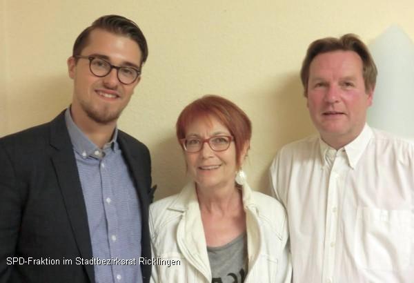 Neuer SPD-Fraktionsvorstand: Marlo Kratzke, Sophie Bergmann und Frank Weber (v.l.)