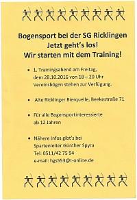 Neu: Bogensport bei den Ricklinger Sch�tzen (© Sch�tzengesellschaft Ricklingen)