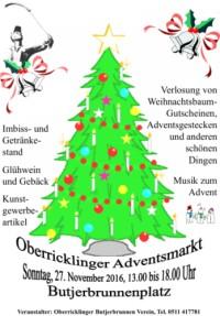 1. Advent 2016: OBV veranstaltet Weihnachtsmarkt