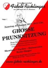 Gro�e Prunksitzung der Fidelen Ricklinger am 21. Januar 2017