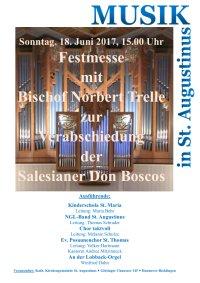 Festmesse mit Bischof Norbert Trelle zur Verabschiedung der Salesianer Don Boscos