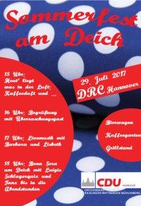 CDU: Einladung zum Sommerfest am Ricklinger Deich