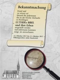 LUTHERs BIBEL UND IHRE ERBEN
