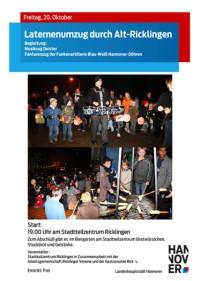 Laternenumzug durch Alt-Ricklingen
