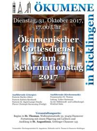 Ökumenischer Gottesdienst am Reformationstag in Ricklingen